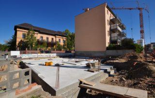 Bugenhagenstraße Fundament während Bau