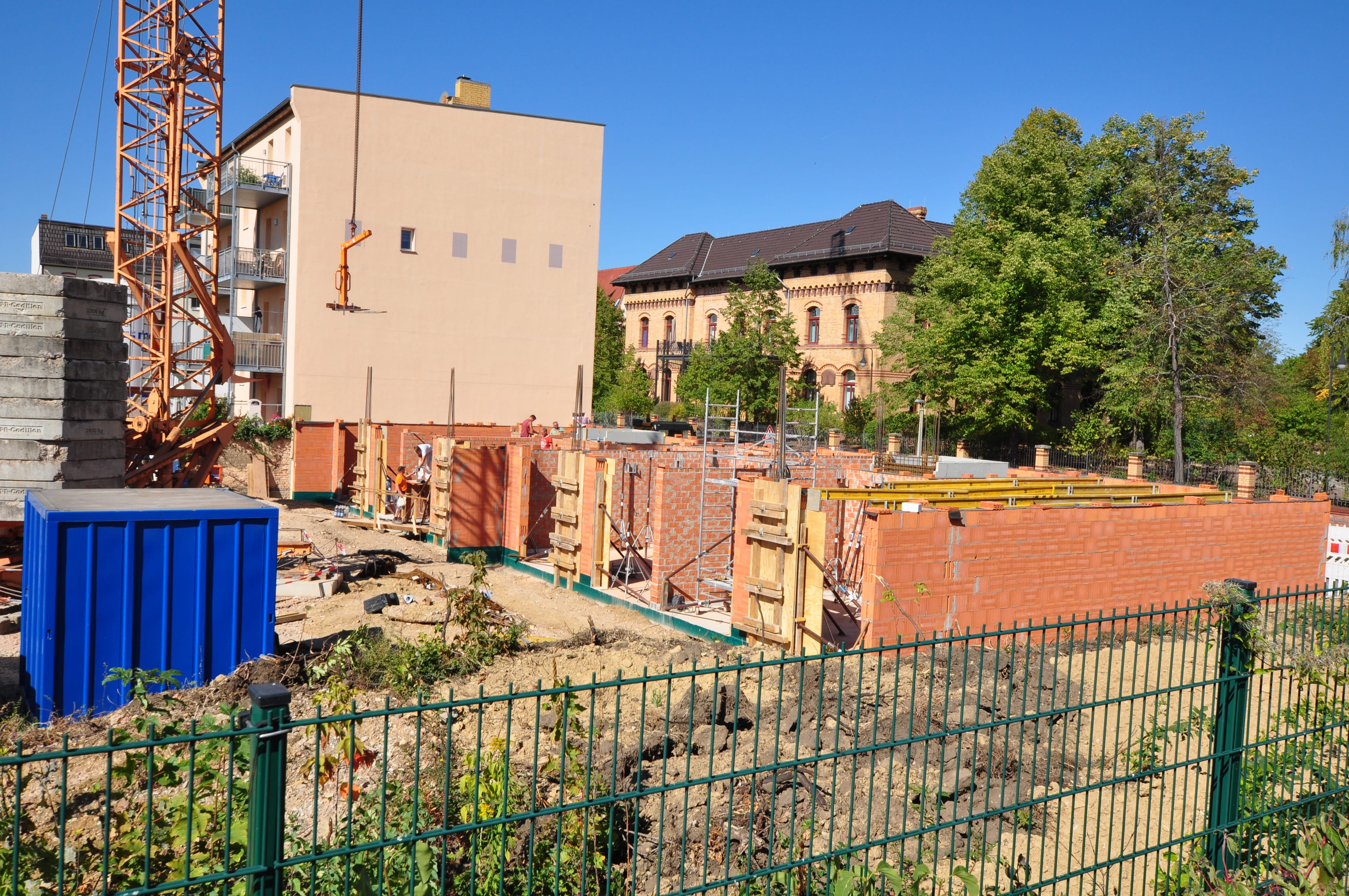 Bugenhagenstraße Mauern während Bau